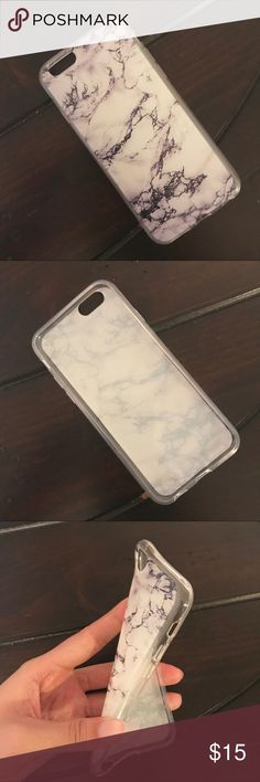 [NWT] Marble Silicone iPhone Case 6S / 7+ / 8+ / X Marble printed silicone case, the print leans purplish black. New in bag. Available for iPhone 6S, iPhone 7+ / 8+, and iPhone X. Accessories Phone Cases