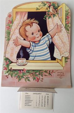 vintage Attwell calendar
