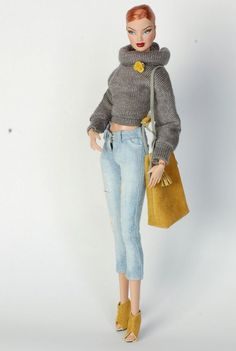 Handmade casual set clothes, ripped jeans, shoes for FR2 | eBay