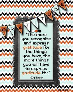 Love this gratitude quote from Zig Ziglar. Lots of gratude quotes at inkhappi.com