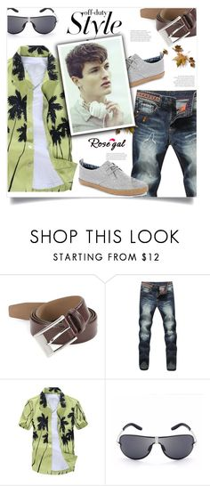 """Rosegal"" by imightygirl ❤ liked on Polyvore featuring HUGO, Ben Sherman, men's fashion, menswear, StreetStyle and rosegal"