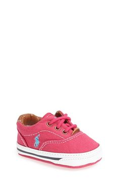 Ralph Lauren Layette 'Vaughn' Crib Shoe (Baby) available at #Nordstrom