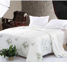 >> Click to Buy << Hot sale 100% Silk comforter/quilt/Blanket/Duvet,for Spring Home King/Full/Queen double bed Size silk comforter summer #Affiliate