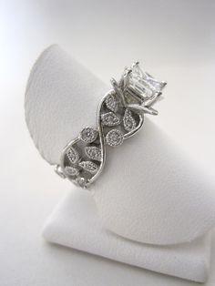 Full custom, CAD design...Designed by the bride herself!! Jensen Jewelers...Craftsmanship at its best!