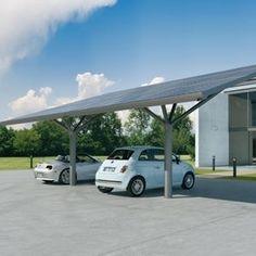 Carports, Car ports - All architecture and design manufacturers - Videos Carport Designs, Garages, Car Porch Design, Car Shelter, Europe Car, Carports, Solar Projects, Roof Repair, Car Repair