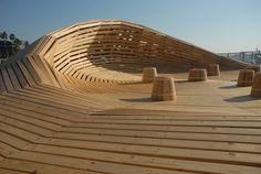 Crater Lake is a Parametric designed Wooden Pavilion in Kobe / 24° Studio - eVolo | Architecture Magazine