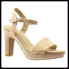 Angkorly Damen Schuhe Sandalen Pumpe - Plateauschuhe - Sexy - String Tanga - Schleife Blockabsatz High Heel 11 cm - Rosa PN1569 T 39 gpM5K