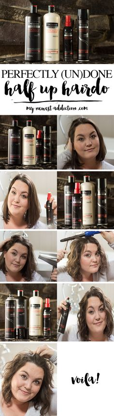 PERFECTLY (UN)DONE HALF UP HAIRDO - My Newest Addiction #ad