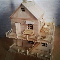 We've accumulated photos of popsicle stick house and structure in below. - We've accumulated photos of popsicle stick house and structure in below. Not just they have styli - Popsicle Stick Crafts House, Popsicle Sticks, Craft Stick Crafts, Ice Cream Stick Craft, Architectural Scale, Architectural Presentation, Architectural Drawings, Miniature Houses, Model Homes