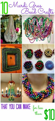 All Cheap Crafts: 10 Ways to repurpose mardi gras beads