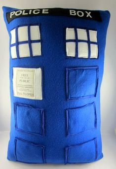 Dr Who Inspired Tardis Pillow  Made to Order by LittleCritters00, $48.00