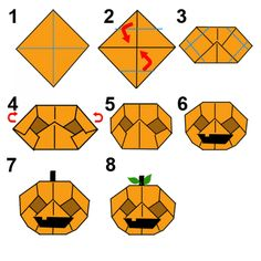 Here's how to make an Origami Halloween