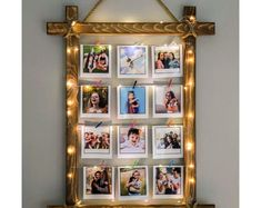 Diy Wall Decor For Bedroom, Room Ideas Bedroom, Diy Home Decor, Rustic Picture Frames, Polaroid Picture Frame, Photo Frame Crafts, Diy Gifts For Girlfriend, Rustic Pictures, Diy Wood Signs