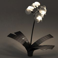 Solar Powered Orchid Light