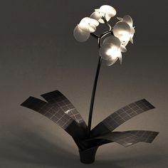 Solar Powered Orchid Light