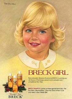 illustrator, Ralph William Williams, who did the Breck girl portraits from 1957 until his death in 1976. Images from 1974 and 1975.
