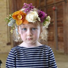 Flower crown class. She made this crown with her mom. Cute beyond cute! Alison Buck Floral Design