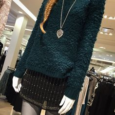 Pairing a beaded skirt with your favorite sweater adds a touch of glam to your outfit at Forever21 #sweaterweather