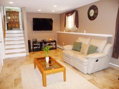 A great example of a finished lower level of a Split Level home.  This beautiful home for sale has had an extreme home makeover.  9 Jones Rd, Wallingford, CT