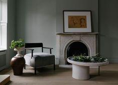 Brooklyn Brownstone by Jae Joo Designs Brooklyn Brownstone, Isamu Noguchi, Circa Lighting, Newlywed Bedroom, Black Staircase, White Hallway, Modern Townhouse, Design Salon, Marble Fireplaces