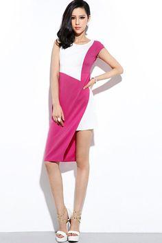 Irregular Color Block Dress - OASAP.com