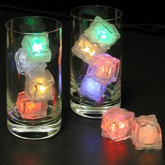 Flashing LED Freezable Ice Cubes $22.95