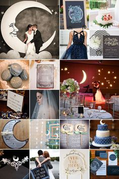 Over the Moon Wedding Theme: You're bound to be over the moon at the thought of this stunning and romantic theme.