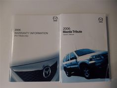 2006 Mazda Tribute Owners Manual Book