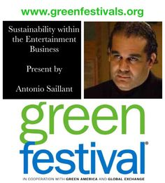 Join me @ the Green Festival Expo [April 25] at 4:30pm the Javits Center(Main Stage) in NYC.  For more information visit   http://greenfestivals.org