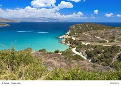 Mirabello Gulf, Crete, Greece - It is the largest natural bay in Crete and one of the largest in the Mediterranean Sea. It offers beautiful views of the sea and it is a place you should not miss if you are visiting this wonderful island.