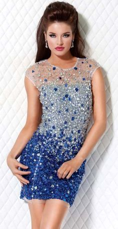 8066e9335c4 JOVANI - Blue Jewel Short Dress Prom Dress 2014