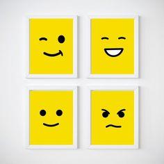 Lego Head Nursery Room Wall Decor, Kids Wall Decor Print your own decor