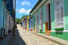 Streets in Trinidad, Cuba. The street's stones in Trinidad were brought by spanish stettlers
