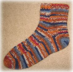 Free Crochet Pattern - Husband Socks from the Foot wear Free …   Craftfreely.com   Lots of other Patterns Too.