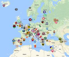 Champions League 2018-19 Map