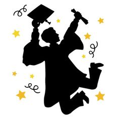 Silhouette Design Store - New Designs Graduation Images, Graduation Cards Handmade, Graduation Templates, Graduation Diy, Graduation Party Desserts, Graduation Cap Decoration, Graduation Drawing, Black And White Balloons, Princess Sofia Party