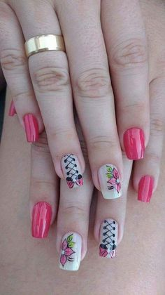 French Manicure Designs For Short Nails Valentines Day Ideas Pink French Manicure, French Manicure Designs, Pink Manicure, Nail Art Designs, Silver Nails, Flower Nail Art, Nail Envy, Hot Nails, Birthday Nails