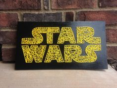 Star Wars Inspired String Art Board wooden sign home decor wood wall hanging Boys room Gift Giving May the Force decorations wood letters by millyandoak on Etsy