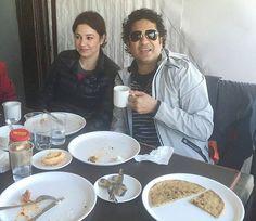 Sachin Tendulkar and wife Anjali enjoying a meal in Mussoorie