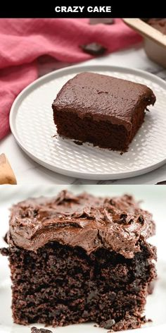 Chocolate Cake Recipe Without Eggs, Cake Recipes Without Milk, Crazy Cake Recipes, Homemade Cake Recipes, Sweet Recipes, Simple Cake Recipe Without Milk, 2 Egg Cake Recipe, Desserts Without Eggs, Baking Without Eggs