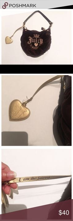 Juicy Couture Handbag Juicy Handbag brown and gold! Great for a tween! Barely used! Juicy Couture Bags