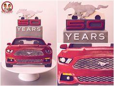 Cake 50 ans Ford Mustang - REV HEADS Collaboration - Un Jeu d'Enfant Cake Design Nantes