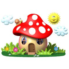 Sticker Maison champignon 1