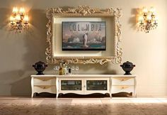 Frame to match your decor TV disguise - And this gigantic ornate frame is perfect if you're incredibly fancy.