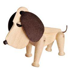 Architectmade Dog Oscar, #Architectmade #wooden_figure #Classic #Toys #Wood_Design www.artvoll.de
