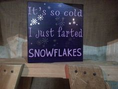 It's so cold I just farted SNOWFLAKES funny winter by snowcute, $16.95