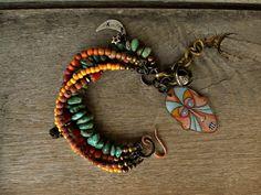 Rustic Hipppie Boho Gypsy multi strand by BeadStonenSkin on Etsy