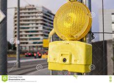 Hazard Warning Light On Urban Cityscape Stock Photo - Image of signal, object: 76306132 Urban, Stock Photos, Lighting, Image, Lights, Lightning