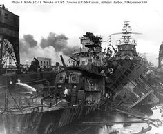 USS Pennsylvania Pearl Harbor | The relatively undamaged USS Pennsylvania (BB-38) is in the background ...