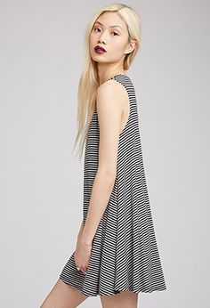 Striped Trapeze Dress | FOREVER21 - 2000096031